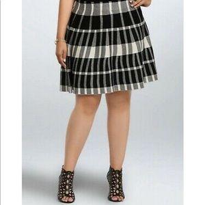 TORRID | Knit Plaid Flowy Skirt 1